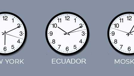 What is the time zone in Ecuador